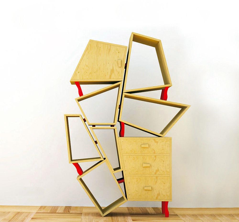 Ken Brutal – policová stena umelecky navŕšená ako zaujímavá inšpirácia pre domácich majstrov alebo podnet na kúpu dizajnového kúsku značky Seletti.
