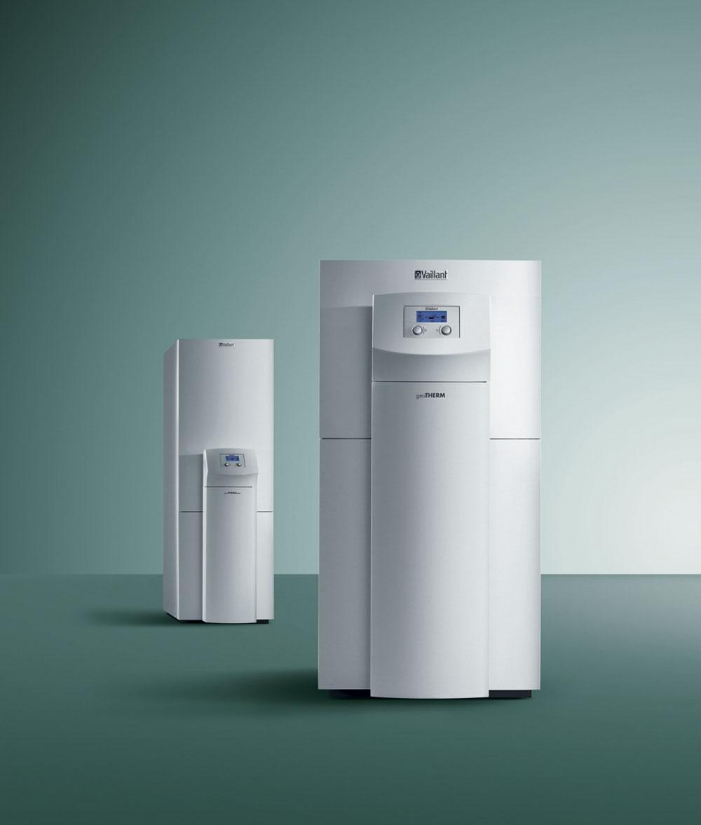 Tepelné čerpadlo geoTHERM VWS zem/voda využíva na získavanie tepelnej energie na vykurovanie aohrev vody teplotu pôdy. Pomáha pri tom zemný kolektor, vktorom prúdi nemrznúca zmes (soľanka). Toto tepelné čerpadlo môže pracovať pri teplote až –10 °C. Pre dni sextrémne nízkou teplotou má zabudovanú elektrickú špirálu svýkonom 6 kW. Môžete si vybrať zpiatich variantov svýkonom od 6 do 17 kW, ato aj vkombinácii sintegrovaným zásobníkom na 175 litrov vody.