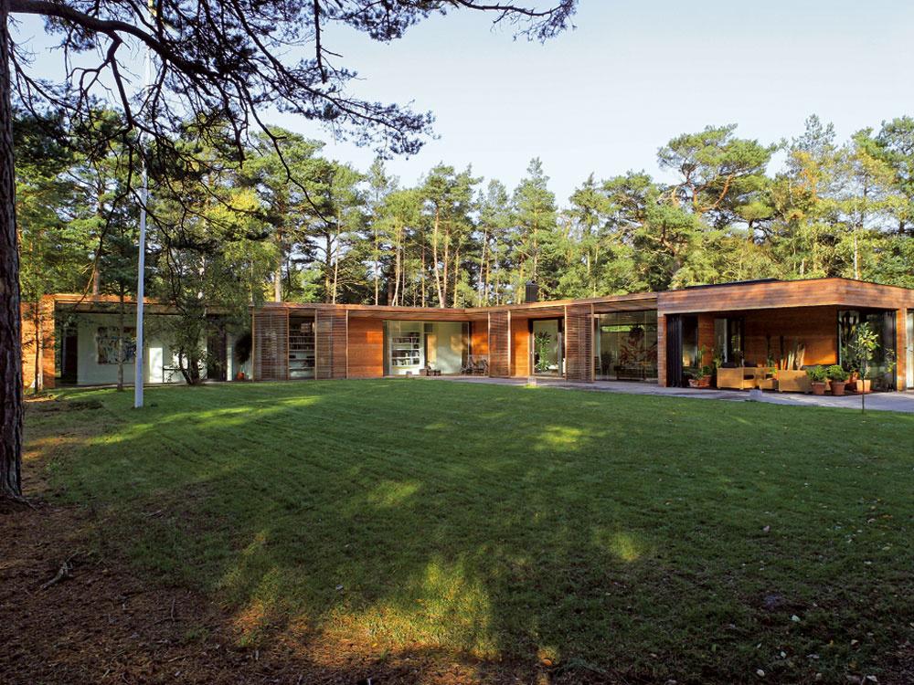 Na piesčitom polostrove Falsterbo, zktorého sa dá autom dostať za polhodinku do centra Malmö, postavil architekt Johan Sundberg aj niekoľko ďalších domov. Vila Bergman – Werntoft je drevostavba spevnená oceľou, založená na betónovej doske. Jej plochú, mierne sa zvažujúcu strechu nesú lepené drevené nosníky.