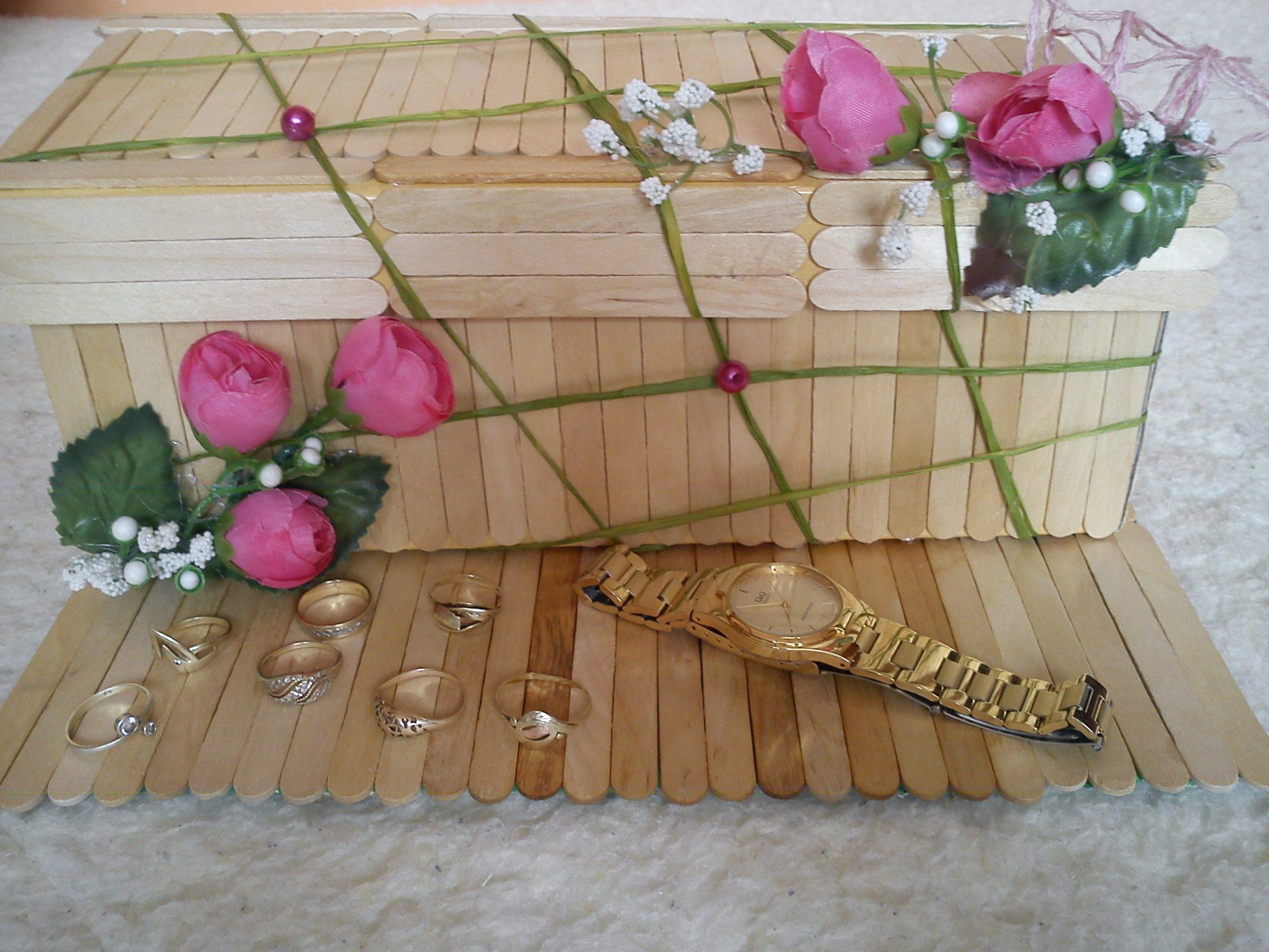 Nápad pre výrobu šperkovnice...a áno vidíte dobre, použité boli paličky z nanukov :)