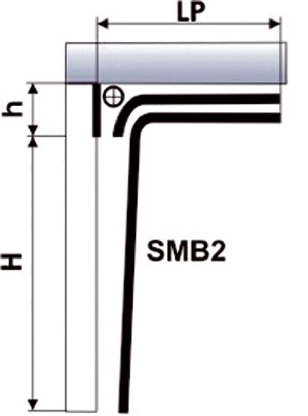 V ponuke značky Breda sú aj brány typu My Box, ktoré majú mechanizmy prispôsobené otvorom bez prekladu a ostení. Výrobca pritom dodáva spolu s bránou aj ostenia a preklad v rovnakom vyhotovení a s rovnakou štruktúrou povrchu, ako má brána. Výhodou je najmä rýchla montáž a to, že nie sú potrebné žiadne stavebné úpravy. L max. = 4 500 mm H max. = 2 500 mm h max. = 180 mm