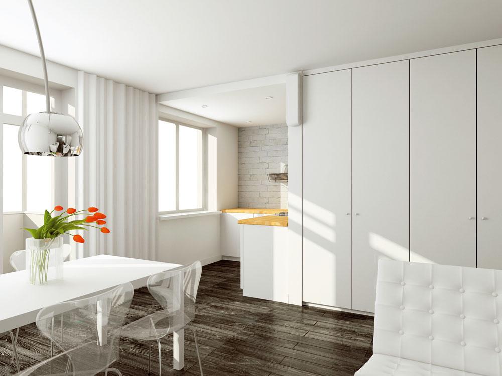 Šatníková vstavaná skriňa si nájde uplatnenie aj mimo spálne. Vcelej domácnosti sa nachádza množstvo potrebných drobností, ktoré by svojím vystavením narúšali minimalistický charakter interiéru. Atu je vhodné na uzavretý odkladací priestor využiť každú voľnu niku alebo hluchú stenu