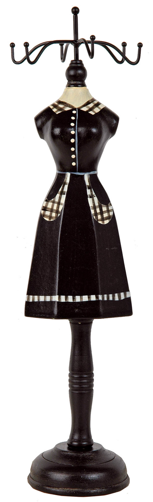 Viacramenný vešiak na šperky zdreva, rozmery 11 × 12,5 × 38cm. Cena11,90 €, predáva www.vilavilocka.sk.