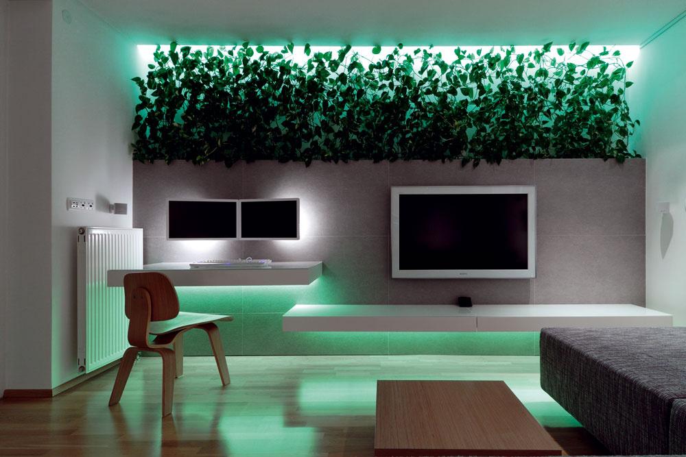 Prepracovaný systém osvetlenia vyčarí jediným tlačidlom atmosféru, na akú majú majitelia vdanej chvíli náladu.