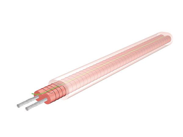 Vodiče PC/PC-Smajú konštantný lineárny príkon aposkytujú stály vykurovací výkon na bežný meter, čo umožňuje ich skracovanie akonečnú úpravu až na mieste inštalácie.