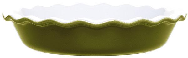 Súprava keramických nádob na pečenie Oliva od firmy Emile Henry, pekáč na lasagne (33,5 × 22,5 cm), koláčová forma (priemer 26 cm), 2 × ramequin (malá miska na zapekanie spriemerom 9 cm). Technológia Ceradon zaručuje, že riad je odolný proti nárazu apoškrabaniu. Vhodné do mikrovlnky, mrazničky aj umývačky. Cena 57,50 €. Predáva Potten & Pannen.