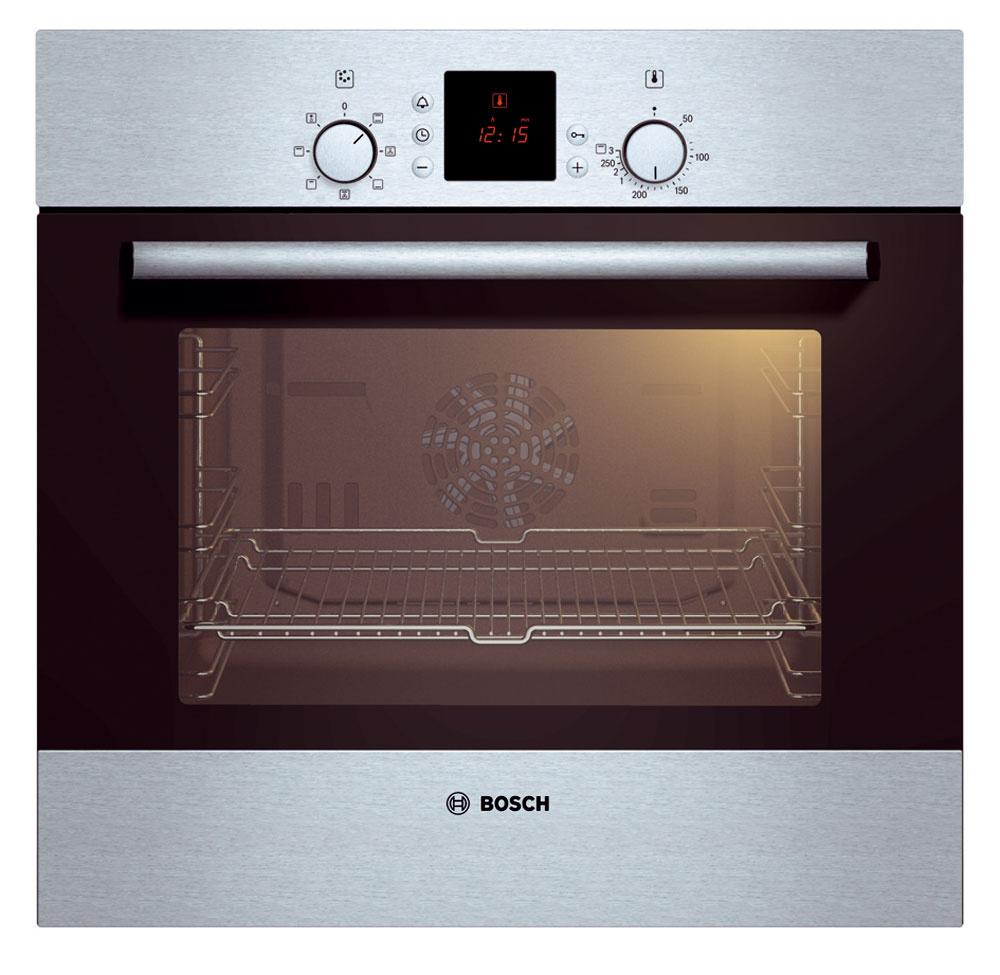 Elektrická vstavaná rúra Bosch HBN 231E1L venergetickej triede A. objem 52 litrov, horúci vzduch, gril, rozmrazovanie, detská zámka, displej, osvetlenie, nastaviteľná teplota od 50 do 270 °C, celosklenená vnútorná strana dvierok. Cena 289 €. Predáva www.electroworld.sk