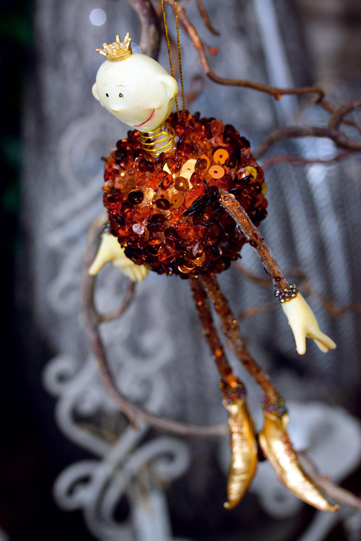 Ligotavý vianočný škriatok skorunkou, 15 cm, cena 12 €. Predáva Elmina, Light Park.