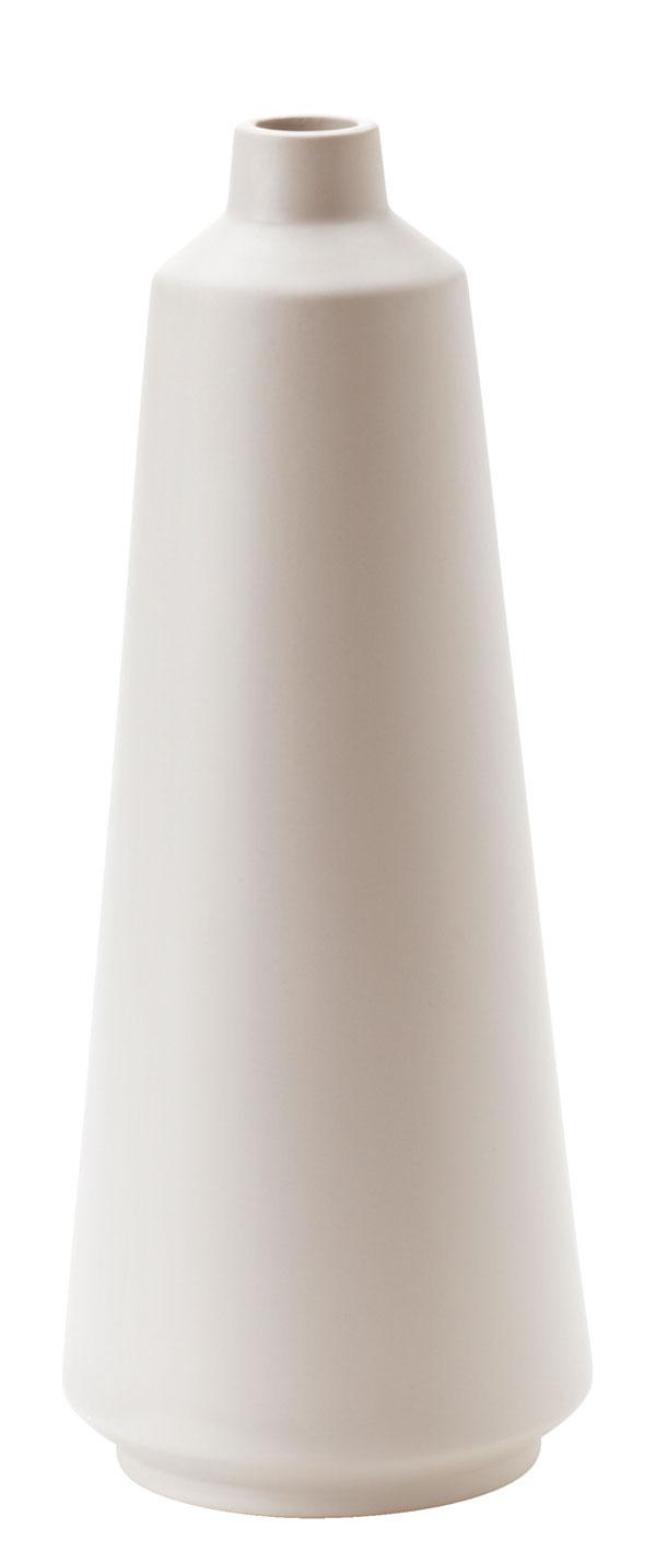 Váza Oväntad zkameniny sbielou glazúrou. Dizajn Anna Lerinder. Výška 34 cm. Cena 4,99 €. Predáva IKEA.