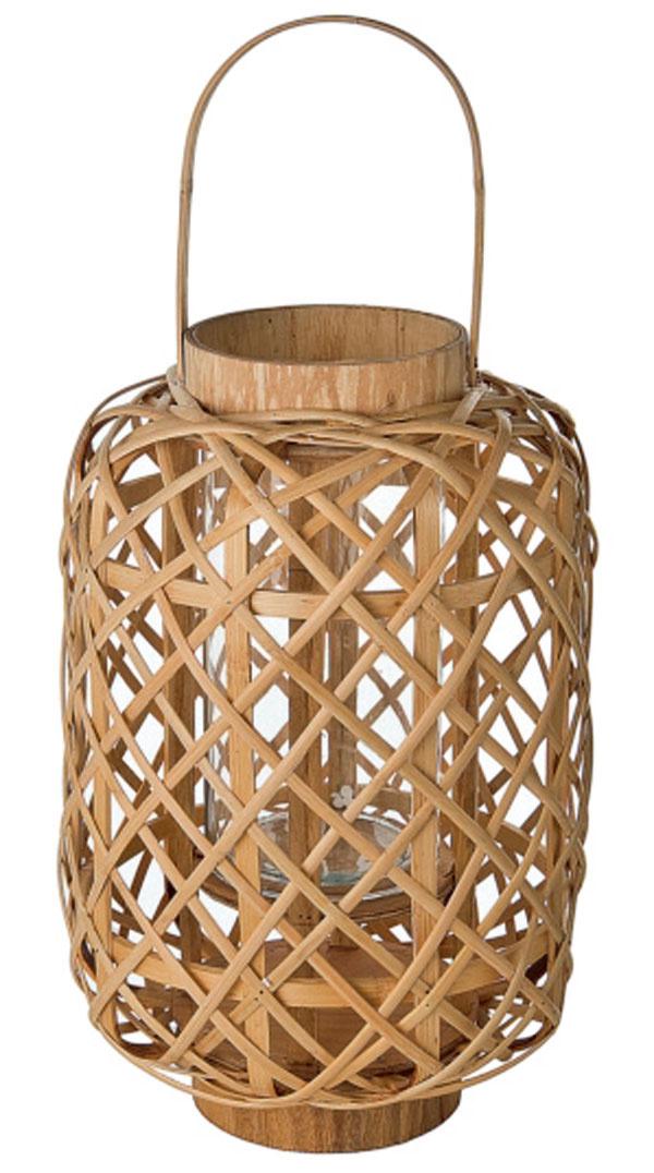 Bambusový lampáš od firmy Sia. Výška 16 cm. Cena 19 €.
