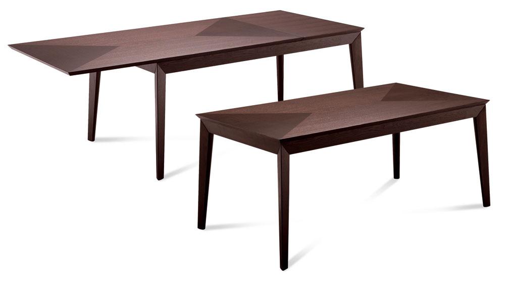 Stôl má poskytovať dostatok miesta na pohodlné stolovanie, pre jednu osobu je potrebných najmenej 60 cm na šírku a40 cm na hĺbku. Šírka stola by mala byť 90 centimetrov. Sužším rozmerom riskujete, že sa vám okrem tanierov na stôl nezmestí nič iné. Čím väčší stôl, tým pohodlnejšie stolovanie aviac miesta na doplnky ariad. Exkluzívny stôl Matisse sprecíznym dizajnom avyhotovením. Doska stola je prírodná, vkladaná dubová dýha. Stôl možno roztiahnuť o50 cm, cena 1 510,50 €, predáva www.italiastyle.sk.
