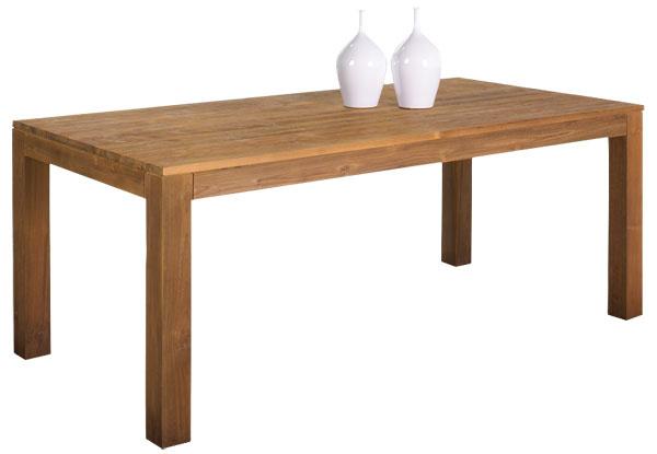 Masívny jedálenský stôl Fissure zrecyklovaného tíkového dreva, rozmery 220× 100 × 78cm, cena1278 €, predáva Amandari.