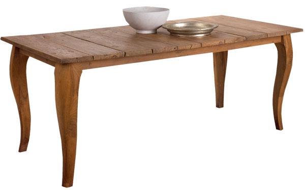 Stôl zrecyklovaného tíkového dreva Lucy, rozmery 240 × 100 × 78 cm, cena 1299 €
