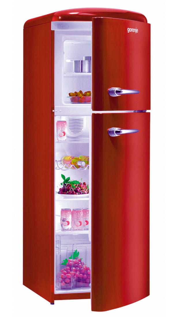 Imidžová chladnička v retro dizajne Gorenje RF 60309 OR, objem 229 l, energetická trieda A++, 999 €, Electro World