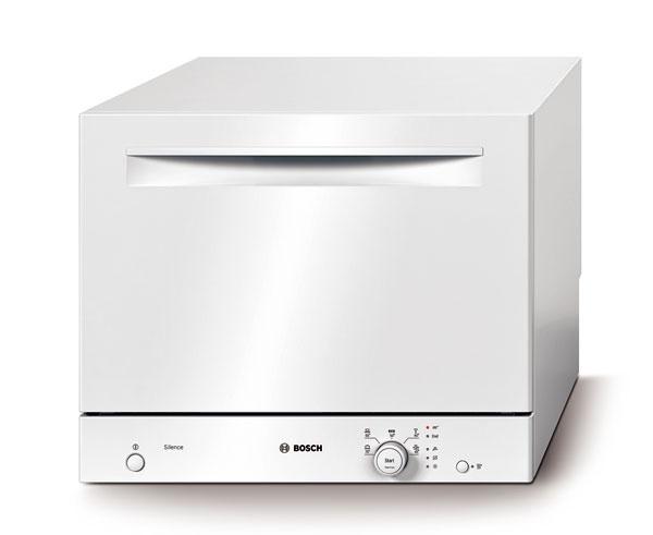 Umývačka Bosch SKS 50E12EU ActiveWater s rozmermi len 45 × 55,5 × 46 cm na 6 súprav, spotreba v programe Eco 50 °C (el. energia: 0,63kWh; voda: 7 l), energetická trieda A+, 474 €