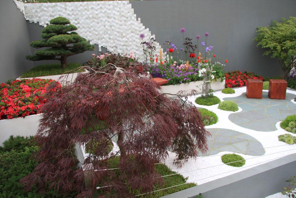 Japonská záhrada na streche ako umelecké dielo