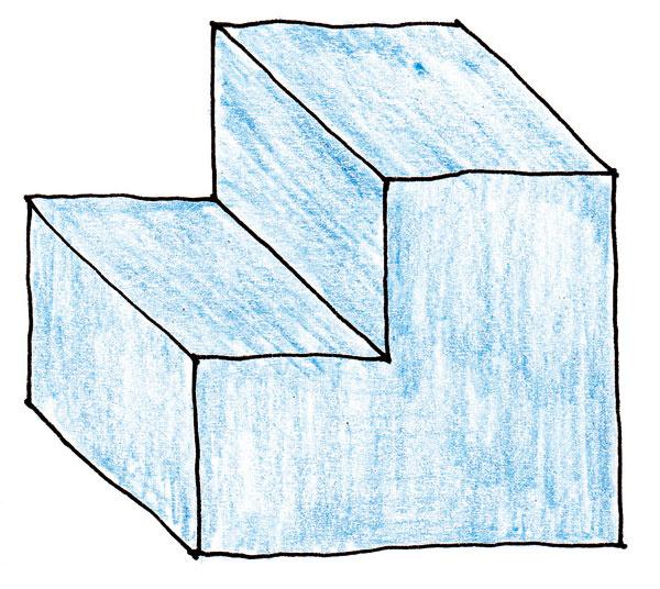 A. Základný tvar sporáka tvorí jednoduché teleso – hranol svyrezanou časťou – jediná hladká, nezáživná, ťažká hmota.