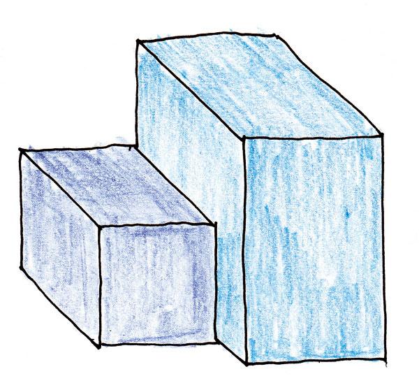 B.Ak kobkové teleso vysunieme dopredu apotlačíme časť svarnou plochou, hmoty sa rozčlenia. Tu už je ksebe priradená veľká amalá hmota.