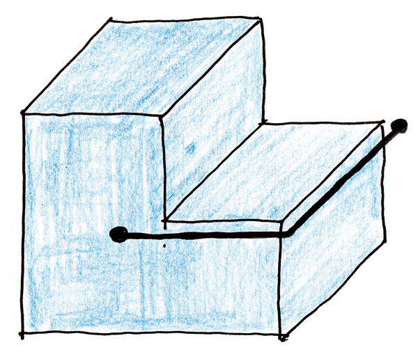 D.Aj jednoduchý doplnok, bezpečnostná asušiaca tyč, dokáže oživiť fádnu hmotu. Hrubšia tyč opticky zjednotila, až zviazala teleso, ktoré akoby sa už-už chcelo rozpadnúť.