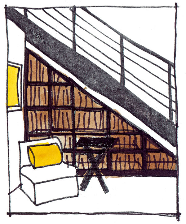 Priestor pod schodiskom možno jednoducho uzavrieť priečkou sdvierkami apoužiť ho ako malý sklad. Je však pravdepodobné, že poriadok vňom budete udržiavať oniečo ťažšie.