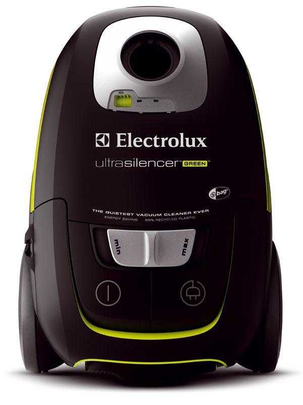 Recyklovaný vysávač Electrolux Ultra Silencer ZUSG3901 so spotrebou energie nižšou o 33 %, príkon 1 250 W, hlučnosť 68 dB.  Až 55 % plastového telesa vysávača je zrecyklovaného materiálu , čím sa ušetrí až 90 % energie potrebnej na jeho výrobu. Obal je vyrobený na 56 % zrecyklovaného papiera. Po skončení životnosti spotrebiča sa využije až 93 % zvysávača. Elektronický indikátor filtra, výstupný umývateľný filter HEPA H12, akčný rádius 12 m, prachové vrecko S-bag ultra 5 l, AeroPro kefa. Cena 211,90 €.