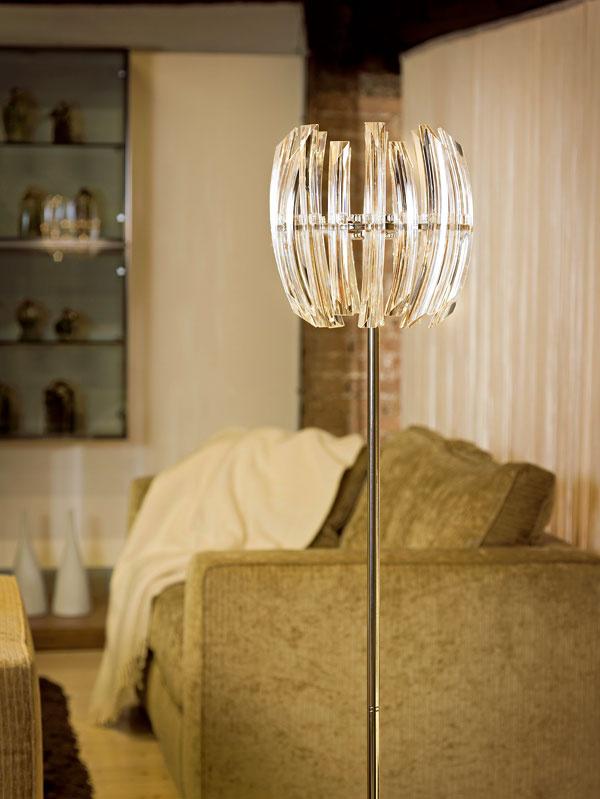 Stojacia lampa Drifter, materiál: chróm, krištáľ, 537,95 €, Eglo