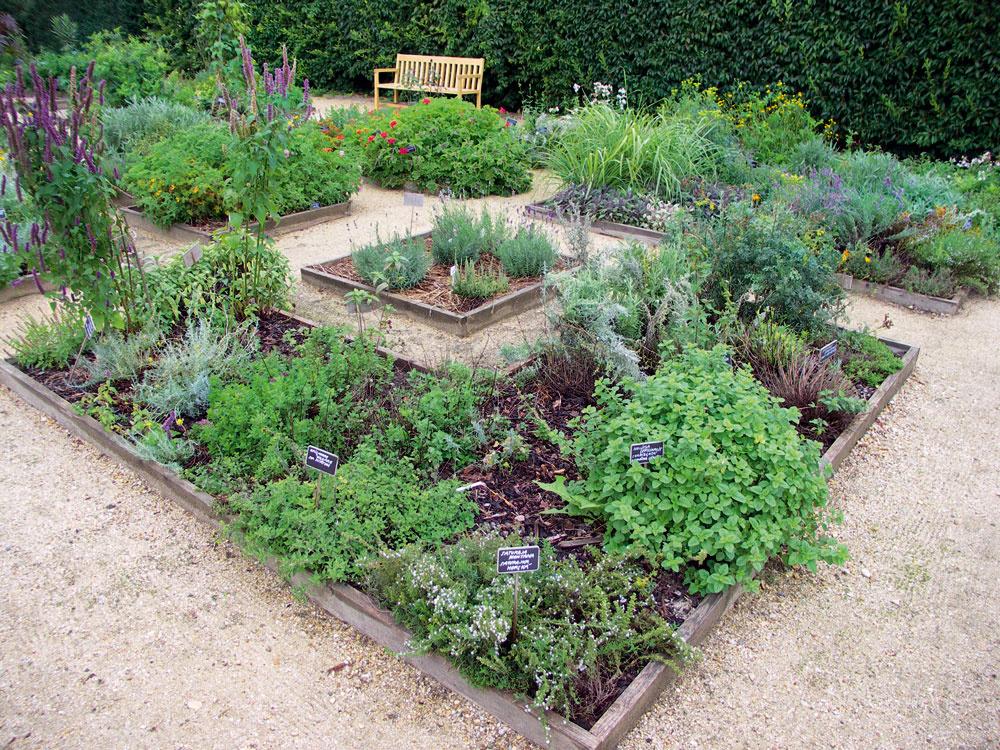 Zámocká bylinková záhrada vo Valticiach má klasický pravidelný tvar aprekypuje množstvom druhov. Skladba jednotlivých záhonov vám môže poslúžiť na inšpiráciu.