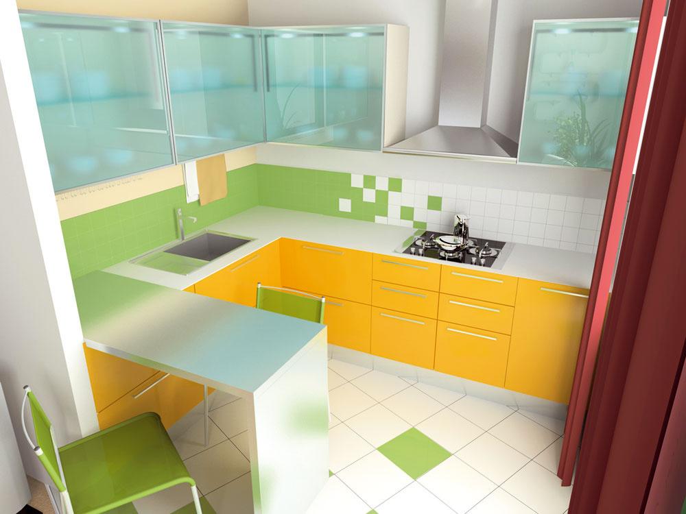 """Spájajte funkcie. Predĺžením kuchynskej linky obarový stôl získate viac pracovnej plochy azároveň priestor pre dôstojné stolovanie. Nižšie barové stoličky pridajte, ak ostane výška stola alinky vjednej úrovni. Ak uprednostňujete stolovanie """"na vysokej úrovni"""", zdvihnite aj úroveň stola nad linku. (foto: isifa.com)"""
