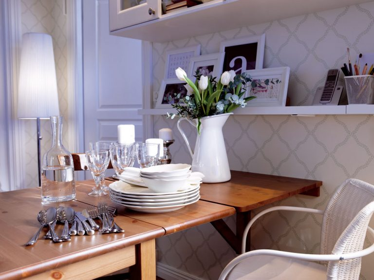 Jedálenský stôl v malom byte