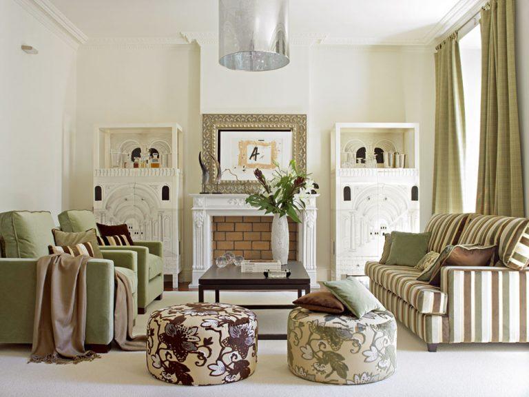 Nábytok, textil a steny farebne