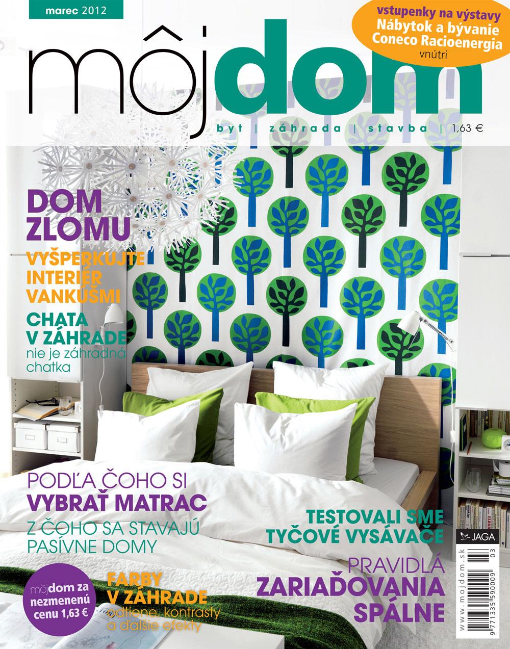 Marcové číslo časopisu Môj dom v predaji