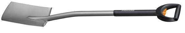 Špicatý rýľ Fiskars 131910 s dlhšou násadou, 34,52 € a teleskopický rýľ s rovnou čepeľou Fiskars 131310, 44,70€, www.fiskars-online.sk