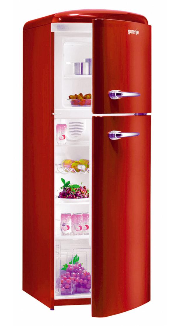 Červená povzbudzuje chuť do jedla. Retro chladničku Gorenje budete brať útokom nielen pre jej farbu, cena 999 €