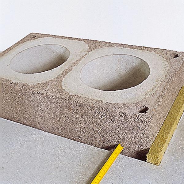 Pri prechode strešnou konštrukciou by mal byť otvor vstrope zkaždej strany tvárnice o3cm väčší ako rozmer tvárnice. Takto vzniknutý priestor treba vyplniť nehorľavou izoláciou.