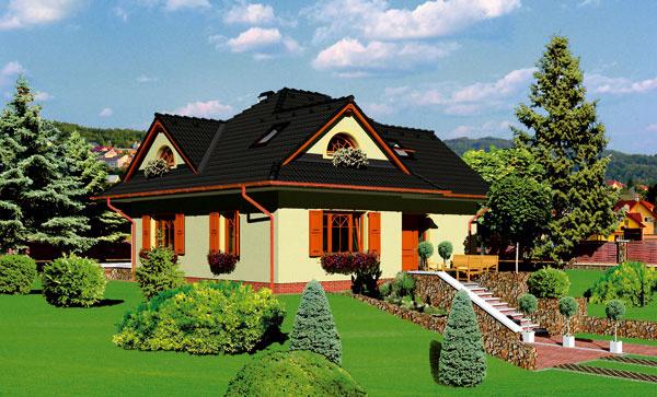 """Dom od výrobcu stavebného materiálu: """"Náš systém funguje približne päť rokov na základe spolupráce sprojektovými kanceláriami, ktoré nám odporučia obľúbené domy zákazníkov. Vsúčasnosti komunikujeme so štyrmi,"""" hovorí Jiří Foltýn zo spoločnosti KM Beta, stým, že medzi najobľúbenejšie domy patrí napríklad Nero 2005. Keď si vyberiete dom zkooperujúcej projekčnej kancelárie, výrobca stavebnín vám predloží výpočet potrebného materiálu aodporučí realizačnú firmu. Platí, že pokiaľ kumulujete nákup materiálu – vápennopieskové alebo pálené murivo, malty,lepidlá, omietkové zmesi, potery, strešnú krytinu – výhoda sa prejaví voveľa zaujímavejšej cene, ako keby ste materiál kupovali od rôznych výrobcov. """"Cena za materiál od obvodových stien po priečky, preklady, vnútorné omietky, stropy, zateplenie vzákladnom variante bez strechy apráce sa pri priemerne veľkom dome pohybuje vrozpätí osem až desať tisíc eur. Ale na každý """"náš"""" dom je spracovaný výpočet acenu si zákazník môže jednoducho zistiť."""""""