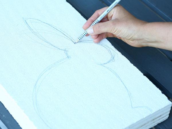 Na Ytong si nakreslite siluetu zajaca.