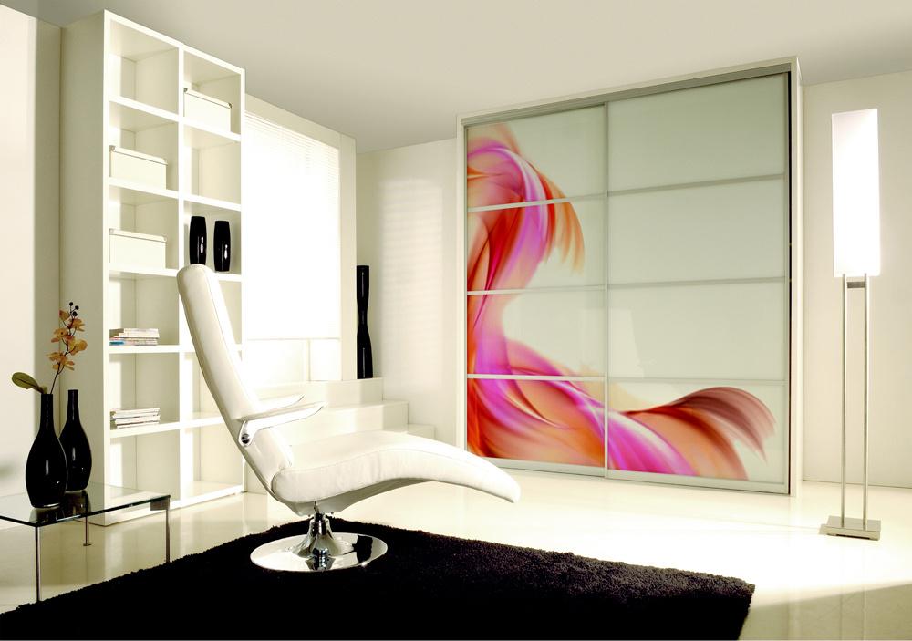 INDECO obývacia izba, dizajnové sklo