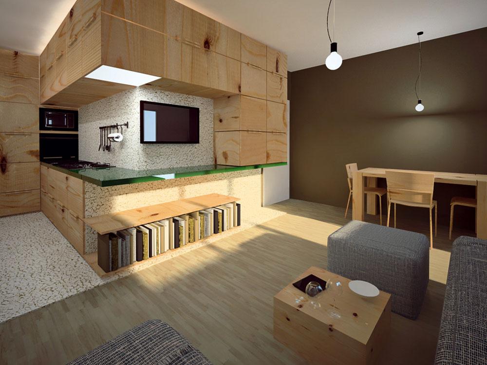 Dva varianty na riešenie nedostatku priestoru v malom byte
