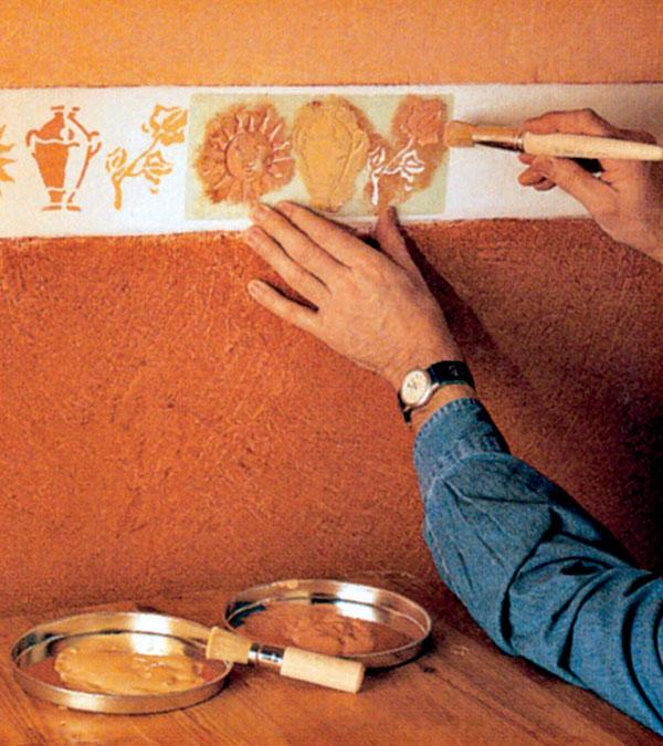 Ručne maľované bordúry a vzory