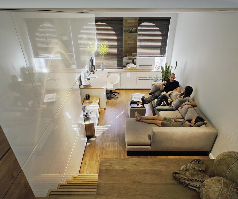 Obývacia izba pôsobí veľmi útulne.