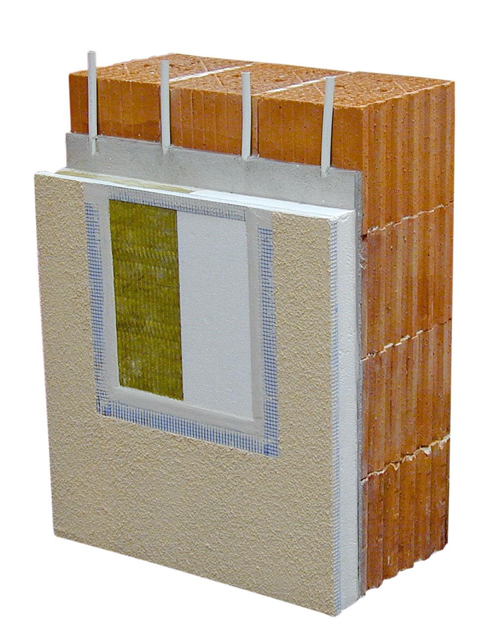 Princíp tepelnej bariéry možno aplikovať pri akomkoľvek spôsobe výstavby – príklady vytvorenia tepelnej bariéry pri murovaných obvodových stenách. To, čo sa pri pasívnych anízkoenergetických domoch dosahuje extrémne hrubou tepelnou izoláciou (až 40cm), teda minimálne tepelné straty, sa vdomoch Terra-Sol dosiahne vďaka tepelnej bariére pri stene vymurovanej zbežných materiálov aizolácii hrubej len 10 cm.