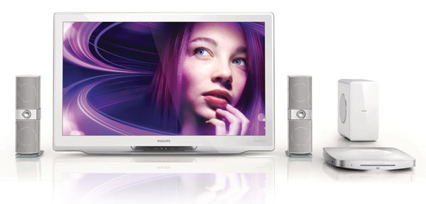 Domáce kino Philips SoundHub HTS9221 so zvukom Crystal Clear Sound, titánové výškové reproduktory, patentované zosiľňovače triedy D zachovávajú pôvodný zvuk zdroja aposkytujú väčšiu presnosť zvukových signálov, virtuálny priestorový zvuk, Full HD 3D Blu-ray, vstavaný dok na iPod alebo iPhone, vstavané wi-fi, Net TV, SimplyShare adiaľkové ovládania AV. Odporúčaná cena 799 €.