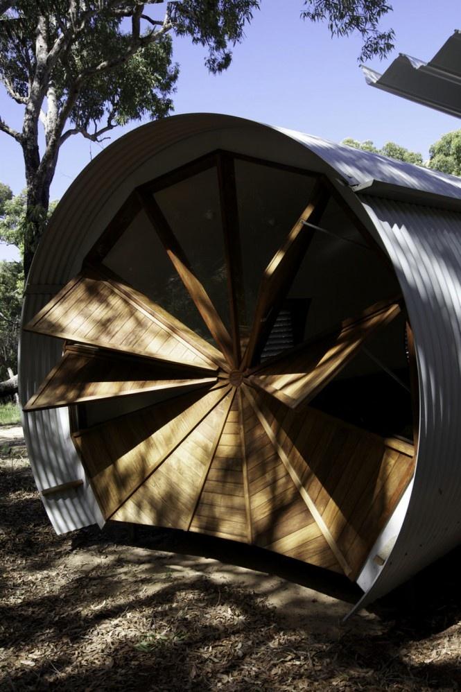 Dom v tvare trupu lietadla v austrálskom Queenslande.
