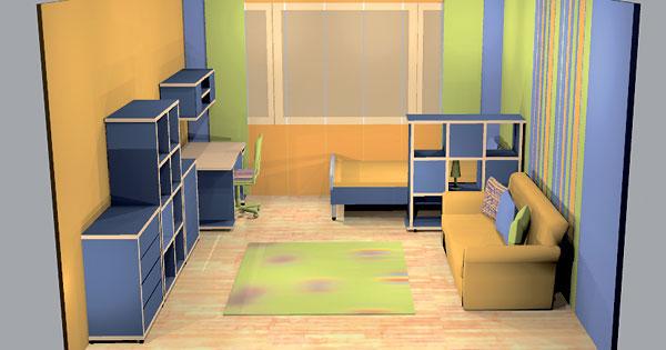 Detská izba od troch do trinástich