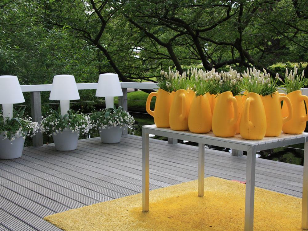 Záhrada neďaleko Amsterdamu vybudovaná v ekologickom duchu