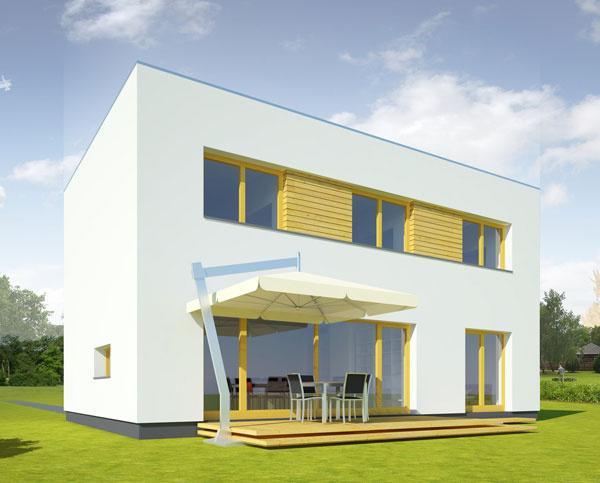 Nízkoenergetický dom vZohore bol pripravovaný sambíciou dosiahnuť pasívny energetický štandard. Proti boli dva faktory – architektova nováčikovská daň (bol to jeho prvý dom vpasívnom štandarde) ajužný horizont kompletne zatienený budúcou stavbou na susednej parcele. Nech tento dom pôsobí akokoľvek stroho, je riešením šitým na mieru päťčlennej rodine. Dom je drevostavba založená na železobetónovej základovej doske na vrstve penového skla. Vykuruje sa tepelným čerpadlom vzduch/voda, ktoré ohrieva vzduch za rekuperačnou jednotkou. Na ochranu proti letným tepelným ziskom sú navrhnuté automatické exteriérové žalúzie. Centrum pasívneho domu vČeskej republike zaradilo tento dom do katalógu vzorových pasívnych domov.