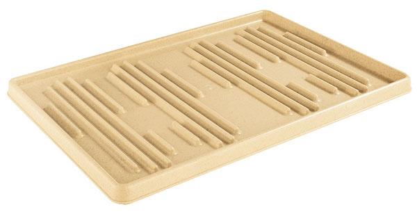 Opatrením proti čľapkajúcej azabrýzganej podlahe je tzv. trativod – podložka pod topánky, ktorá pohltí prebytočnú vodu, kamienky aj špinu.