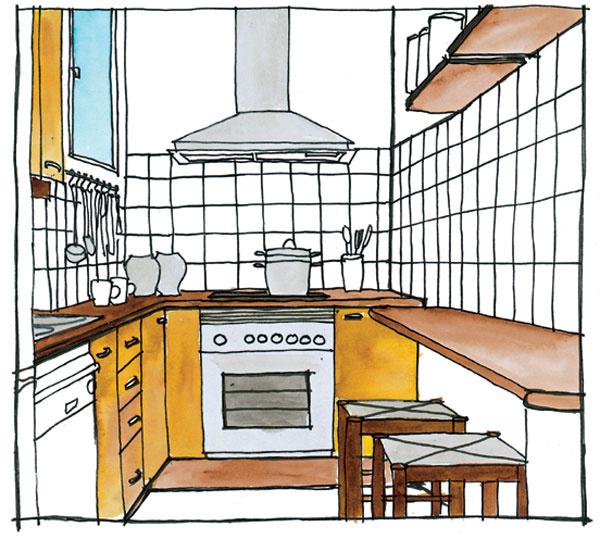 Miesto pod hornými skrinkami je ako stvorené na závesný systém. Na tyč alebo lištu zaveste najčastejšie používané panvice, kuchárske náradie, koreničky či utierky.
