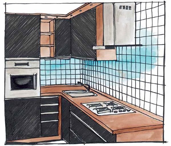 Zočí do rúry Ak často pečiete (ale nielen pre to), umiestnite rúru do výšky očí – pri kontrolovaní jedla sa nebudete musieť zohýnať aaj čistenie bude ľahšie. Prístroje 2 v1, napríklad elektrická rúra kombinovaná smikrovlnnou, sú pre malé kuchyne výborným riešením.