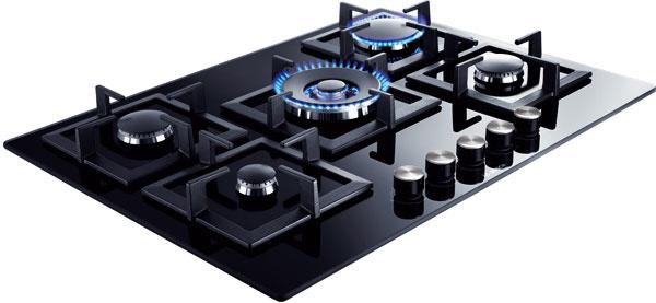 Plynová varná doska Bosch PPQ716B21E, horák wok, 489 €